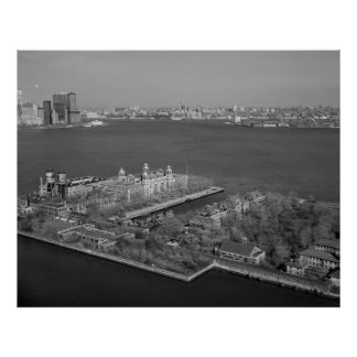 Ellis Island and NYC Harbor Photograph Poster