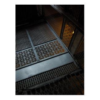 Ellis Island Elevator Postcard