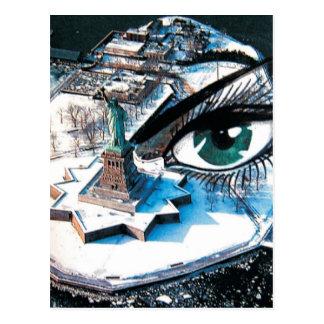 Ellis Island eye Postcard