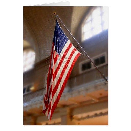 Ellis Island flag Greeting Card