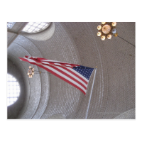 Ellis Island Flag Post Card