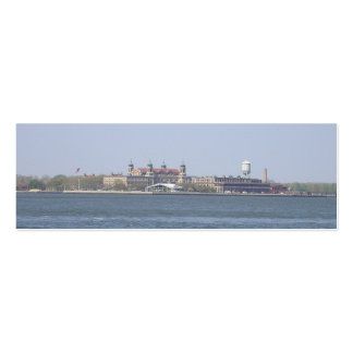 Ellis Island-NYC Bookmark Double-Sided Mini Business Cards (Pack Of 20)