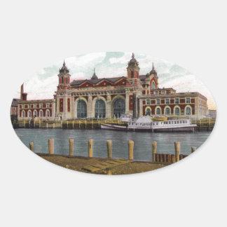 Ellis Island Oval Sticker