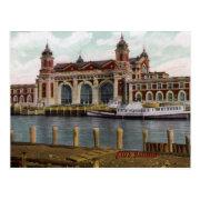 Ellis Island Vintage Postcard