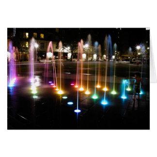 Ellis Square Fountain Greeting Card