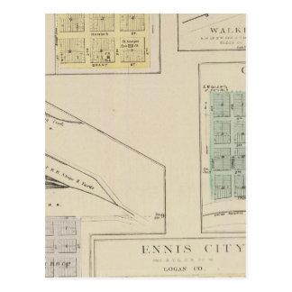 Ellis, Victoria, Walker, Herzog, Oakley, Kansas Postcard