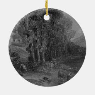 Ellisland Farm and River Nith Ceramic Ornament