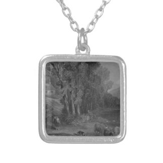 Ellisland Farm and River Nith Silver Plated Necklace