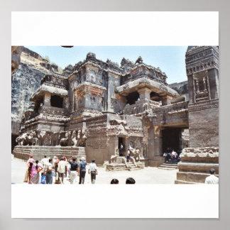 Ellora temple poster