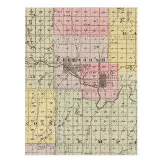 Ellsworth County, Kansas Postcard