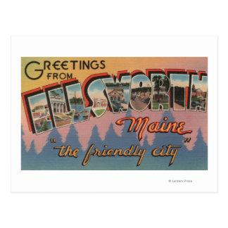 Ellsworth, Maine - Large Letter Scenes Postcard