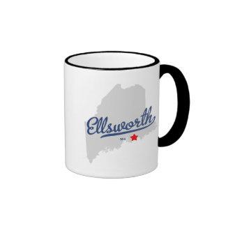 Ellsworth Maine ME Shirt Coffee Mugs