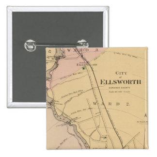 Ellsworth, Maine Pin Cuadrado