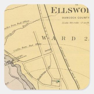 Ellsworth Pegatina Cuadrada