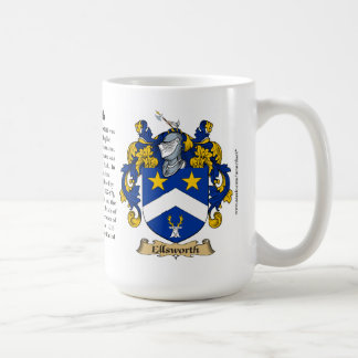 Ellsworth, the Origin, the Meaning and the Crest Coffee Mugs