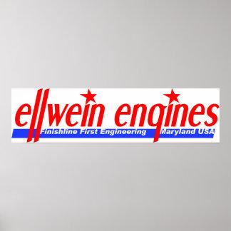 Ellwein Engines Vintage Logo Garage Poster