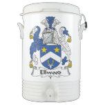 Ellwood Family Crest Igloo Beverage Cooler