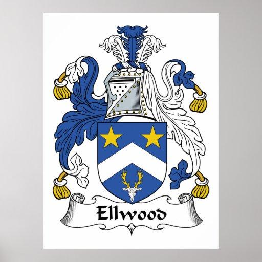 Ellwood Family Crest Poster