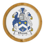 Ellwood Family Crest Round Cheese Board