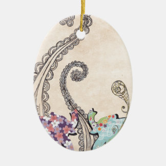 Elly Belly Ceramic Ornament