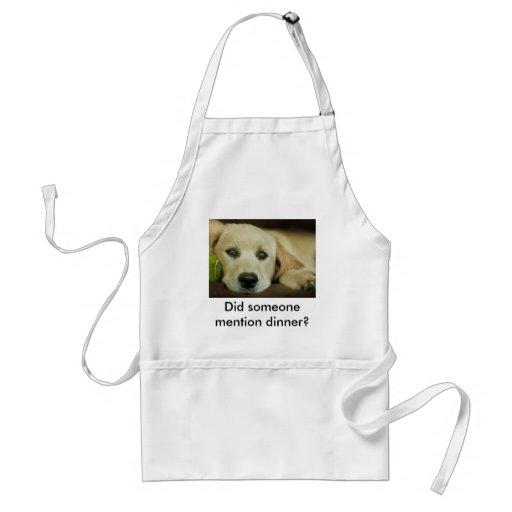 Elly the happy retriever adult apron