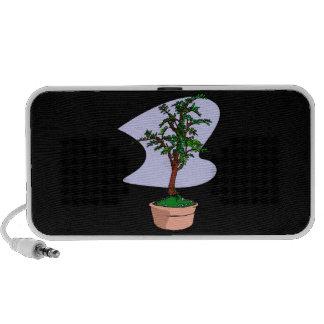 Elm Like Bonsai Tree Pink Pot Travelling Speakers