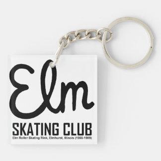 Elm Skating Club, Elmhurst, Illinois Keychain