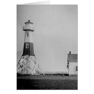Elm Tree Beacon Lighthouse Greeting Cards