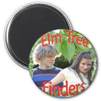 Elm Tree Finders 2 Inch Round Magnet
