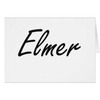 Elmer Artistic Name Design Stationery Note Card
