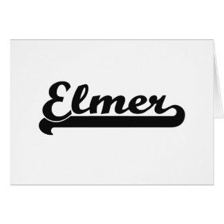 Elmer Classic Retro Name Design Stationery Note Card