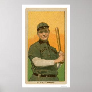 Elmer Flick Baseball Card 1909 Poster