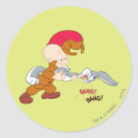 Elmer Fudd and BUGS BUNNY™ Round Stickers