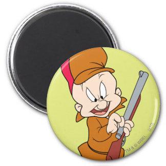 Elmer Fudd listo para cazar Imán Redondo 5 Cm