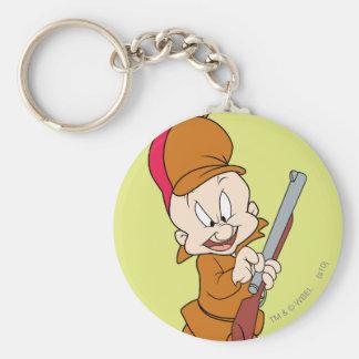 Elmer Fudd listo para cazar Llavero Redondo Tipo Pin
