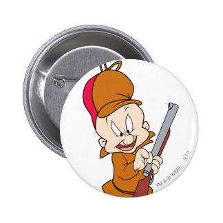 Elmer Fudd listo para cazar Pin Redondo De 2 Pulgadas