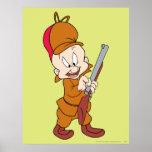 Elmer Fudd listo para cazar Posters