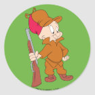 ELMER FUDD™ | With Gun Classic Round Sticker