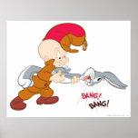 Elmer Fudd y Bugs Bunny Posters