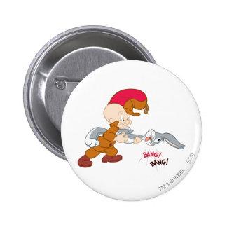 Elmer Fudd y ™ de BUGS BUNNY Pin Redondo De 2 Pulgadas