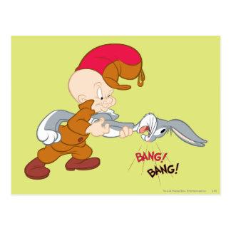 Elmer Fudd y ™ de BUGS BUNNY Postales