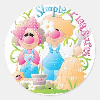 Elmer & Louise 1 Classic Round Sticker