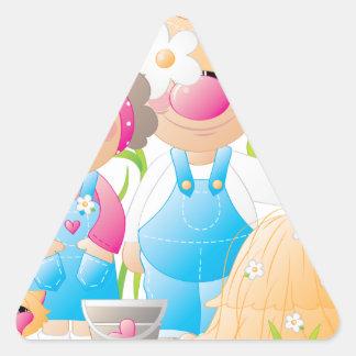 Elmer & Louise 1 Triangle Sticker