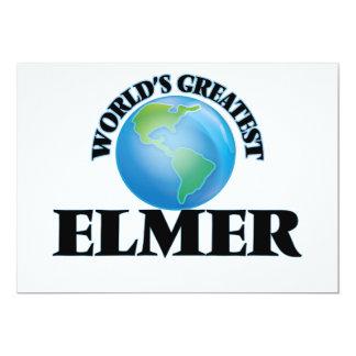 Elmer más grande del mundo invitación 12,7 x 17,8 cm