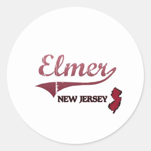 Elmer New Jersey City Classic Classic Round Sticker