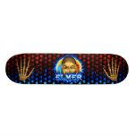 Elmer skull blue fire Skatersollie skateboard