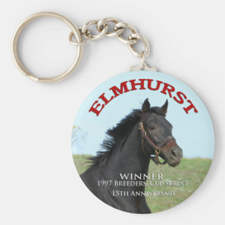 Elmhurst - '97 Breeders Cup Sprint Winner Basic Round Button Keychain
