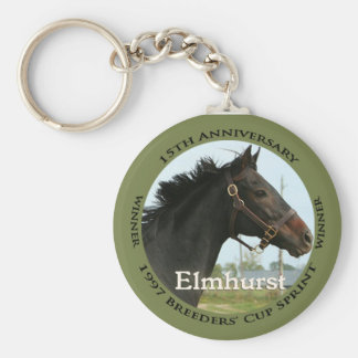 Elmhurst - '97 Breeders' Cup Sprint Winner Basic Round Button Keychain