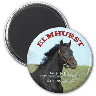 """Elmhurst - ganador de Sprint de la taza de """"97 cri Imán Redondo 5 Cm"""