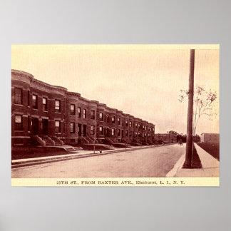 Elmhurst Nueva York circa 1900 Posters